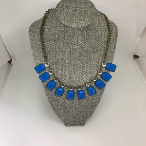 J Crew blue/ crystal necklace